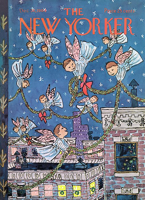 New Yorker December 26th 1964 By William Steig New Yorker Covers The New Yorker Holiday Illustrations