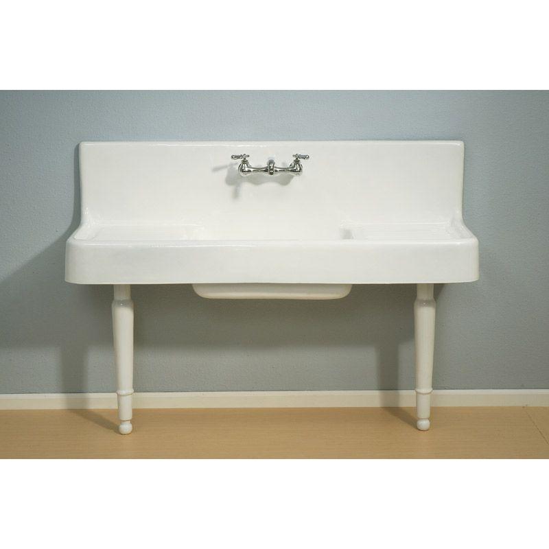 Strom Plumbing Clarion Farmhouse Drainboard Sink P0814 White