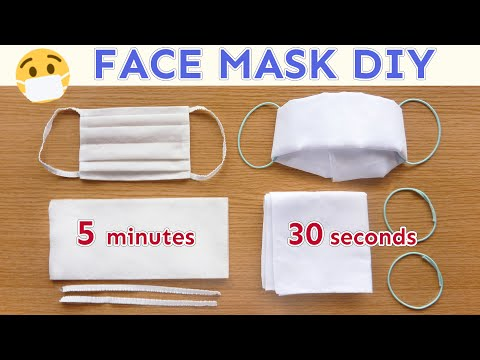 Diy Face Mask No Sew Paper Wipe Mask Handkerchief Mask How
