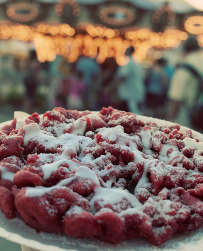 Red Velvet Funnel Cake Indiana State Fair Funnel Cake Indiana State Fair Food