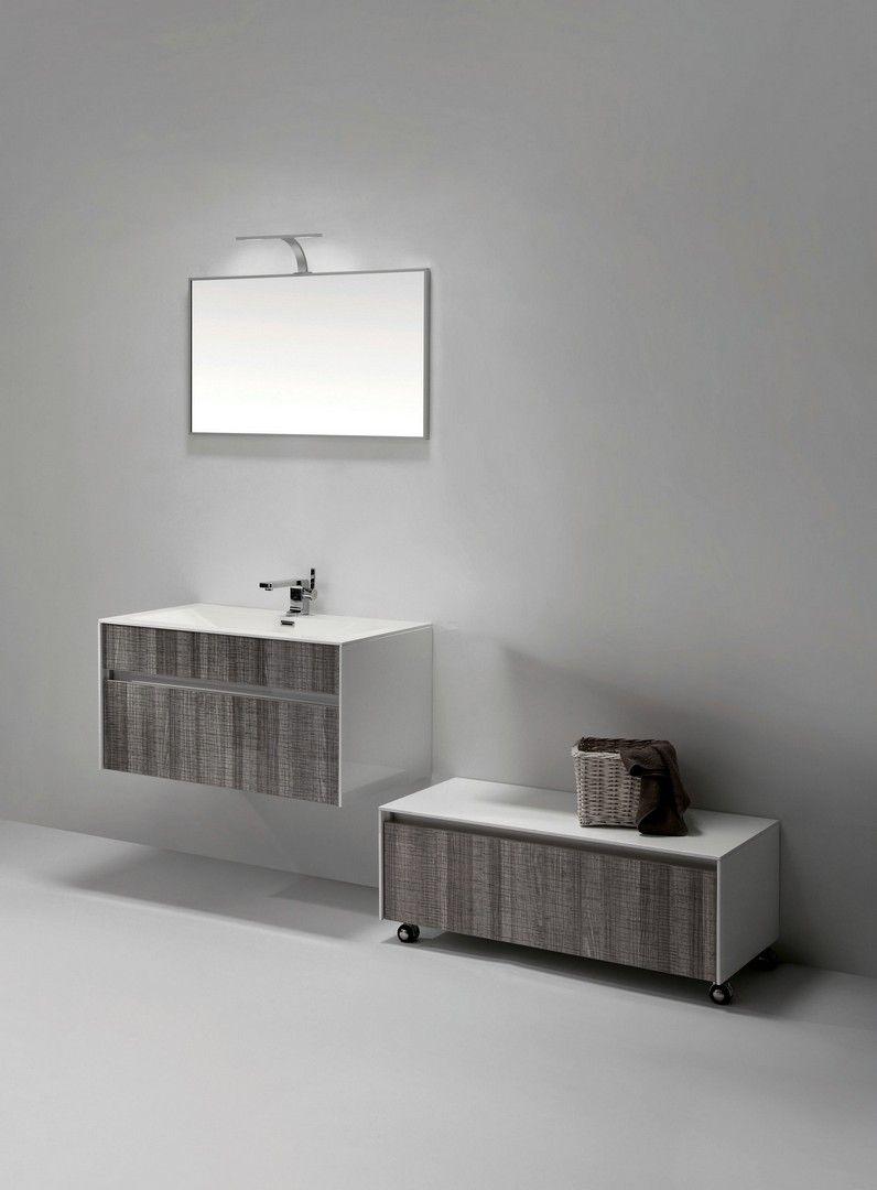 Eviva Ashy 36 In Wall Mount Modern Bathroom Vanity Set Ash Gray