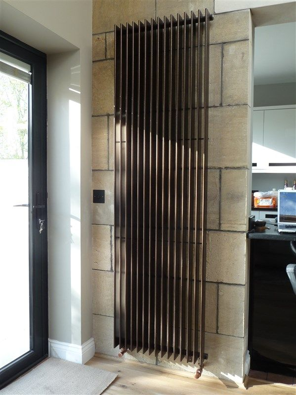Attractive Large Flat Finn Vertical Radiator | House Of Radiators