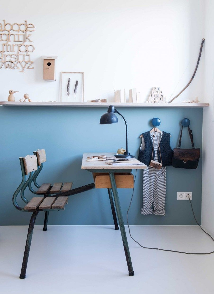 12-kinderkamer-blauw - Workspace and offices   Pinterest ...