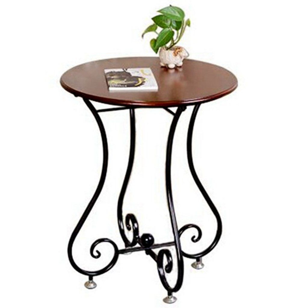 End Tables Table Stylish Coffee Table Simple Wrought Iron Casual