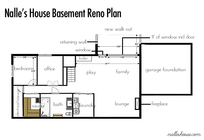 House Plans With Basement 1st level small and affordable bungalow house plan open floor plan master bed w Ranch Basement Floor Plan