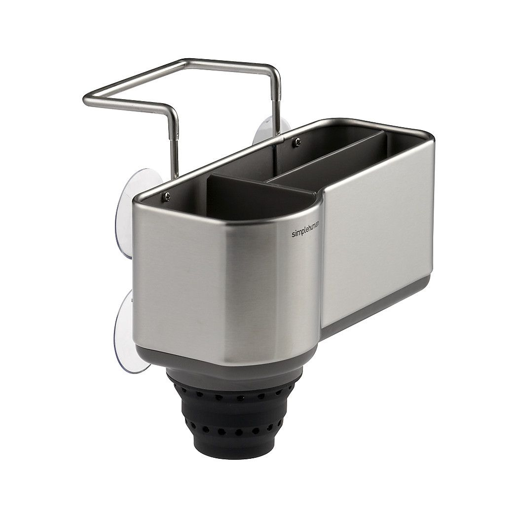 Shop Simplehuman ® Sink Caddy. Sleek Design From Simplehuman Unclutters The  Sink. Rust Proof Stainless Steel Caddy Has Plastic Dividers To Organize  Sponges ...