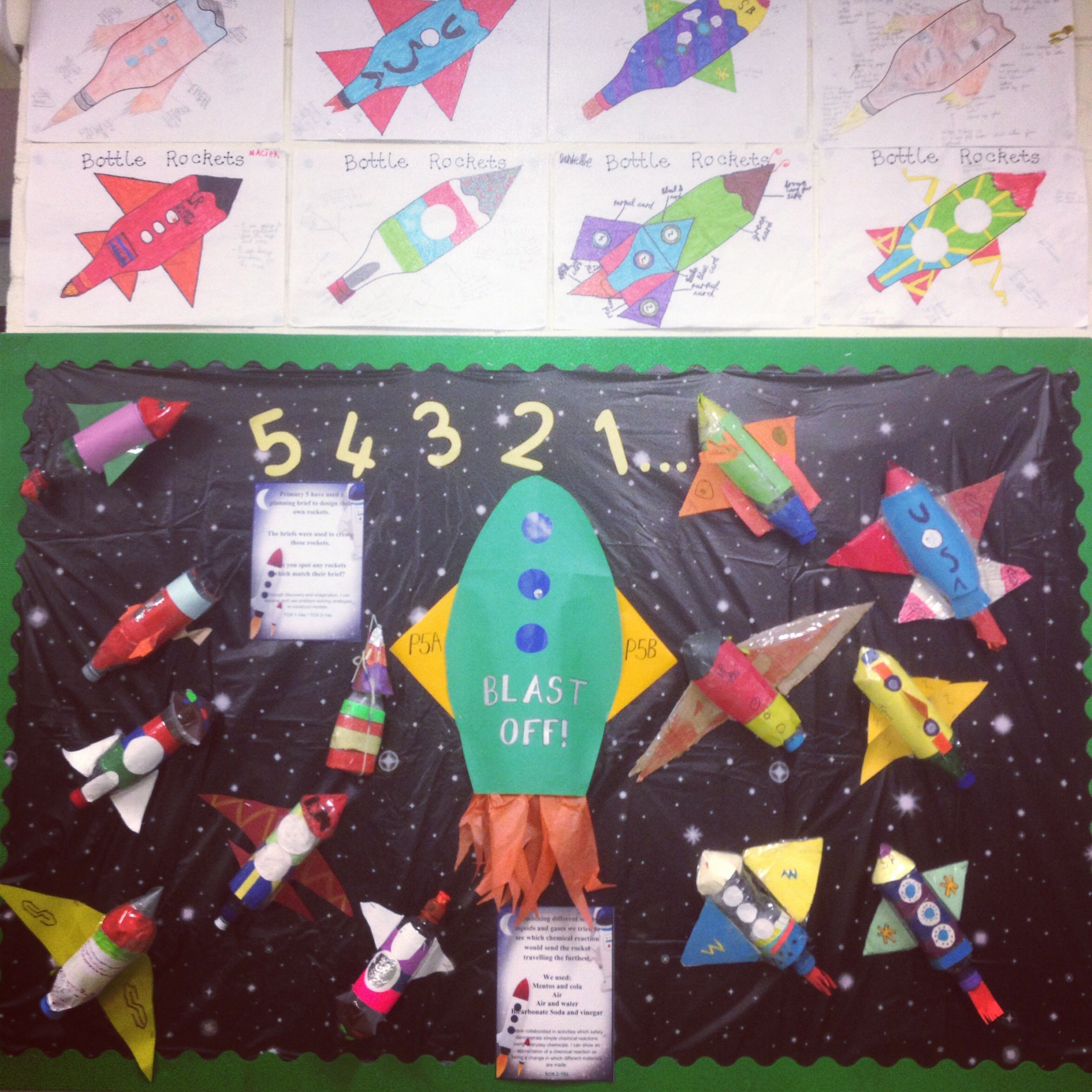 Design And Technology 3d Rockets Bulletin Board With