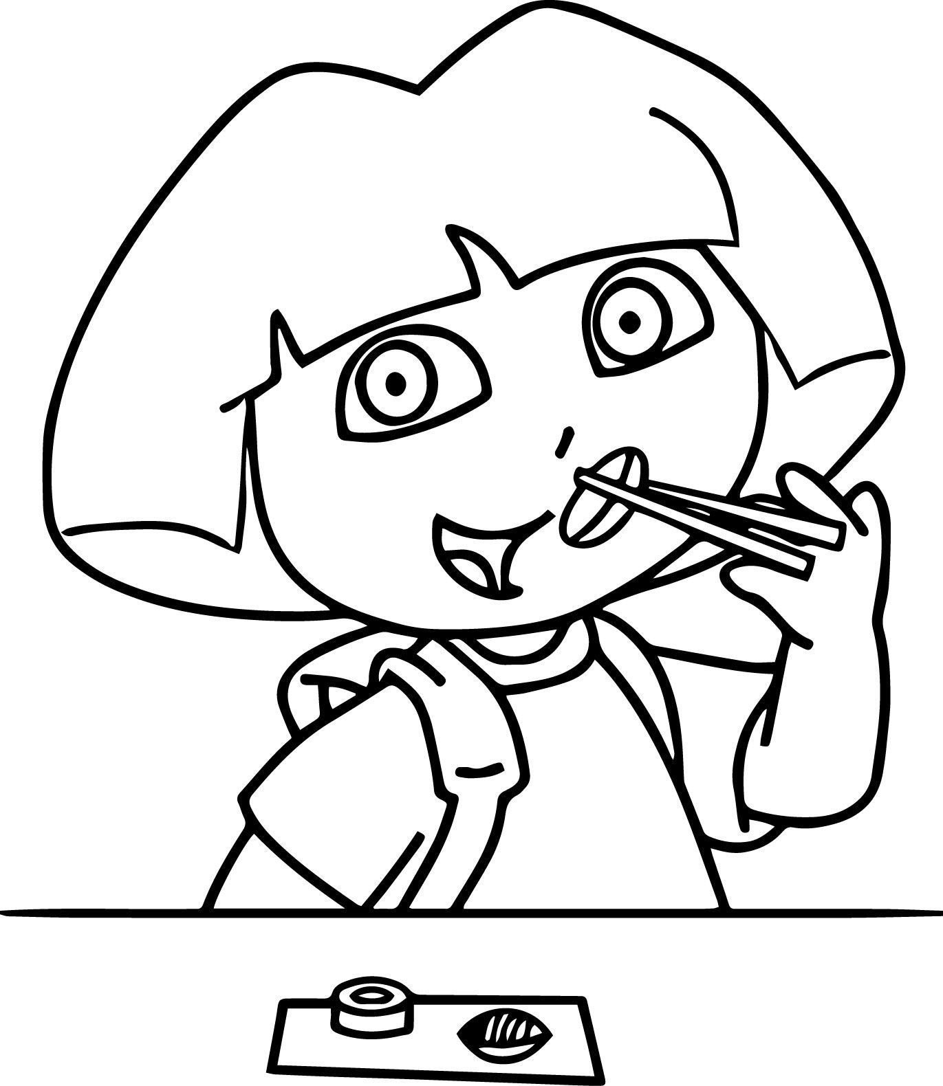 Nice Dora Eating Sushi Coloring Page Coloring Pages Bible Coloring Dora