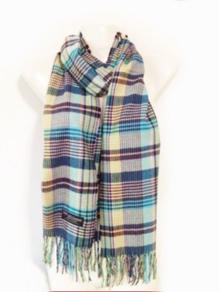 Cashmere Scarf, Soft Blue Tartan Cashmere Scarf, SUPER SOFT, Blue Tartan Great gift for yourself or someone else! Each wrapped in tissue, in a gift box and tied with a ribbon! Note: Due to lighting effects with photography, monitor age, settings for color, contrast, etc., there may be differences in the colors of our website photo and the actual item.Sizes are approximate and may vary. **CLICK ON PICTURES TO ENLARGE**   https://nemb.ly/p/H1M36l78lx Happily published via Nembol