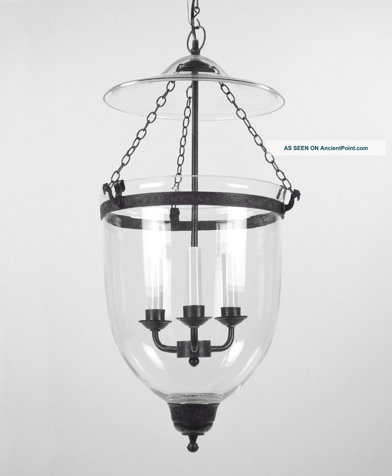 Large Bell Jar Light Chandelier Pendant Lantern Glass Colonial Old Antique Style Chandeliers Lantern Pendant Lighting Jar Pendant Light Pendant Light Fixtures