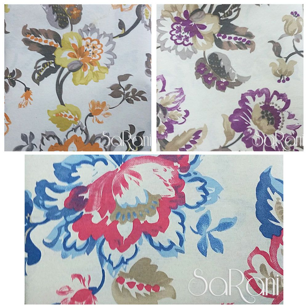 Offerta tessuto cotone arredo tappezzeria tela floreale tenda cuscini taglio cuscini creativi - Gran foulard divano ...