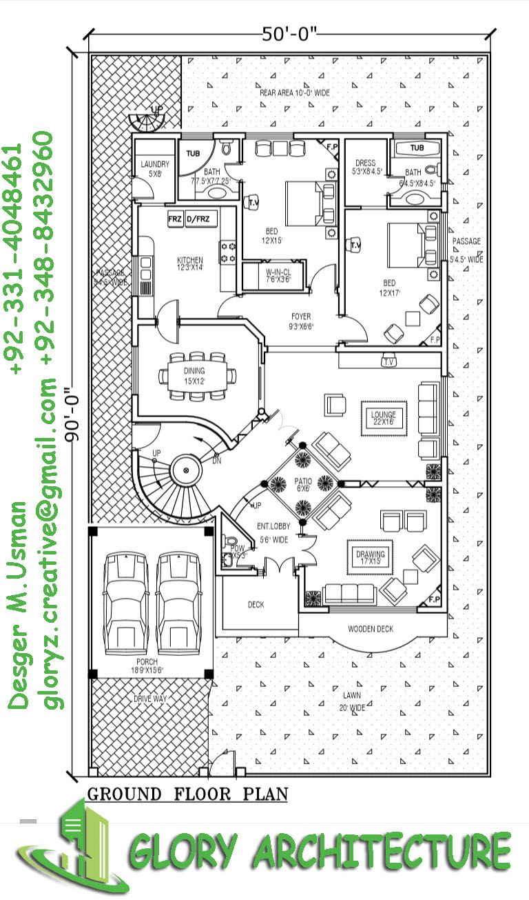1 kanal modern house plan pleas contact for farther ...