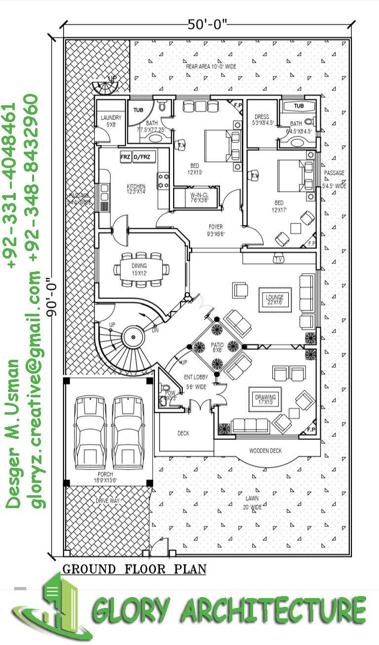 f433b8ea0616b5e6c4967ad1861c5922 - Get 3 Bedroom Modern House 1 Kanal Floor Plans Background