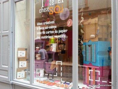 vitrine magasin d coration cr ative montauban l 39 atelier chez soi boutique montauban. Black Bedroom Furniture Sets. Home Design Ideas