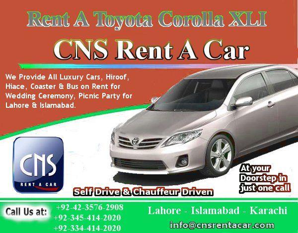 Corolla Xli Rent A Car In Lahore Pakistan Toyota Corolla Rent A Car Self Driving