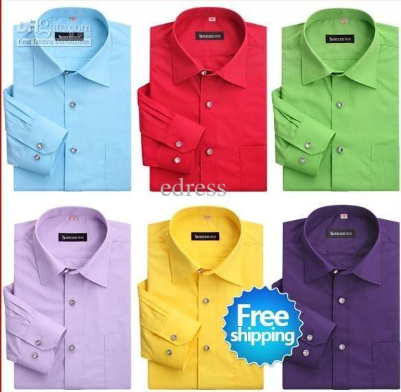 Wholesale Free shipping New men's designer dress shirts cotton shirt long sleeve shirt solid color shirts,Men', Free shipping, $20.45/Piece   DHgate Mobile