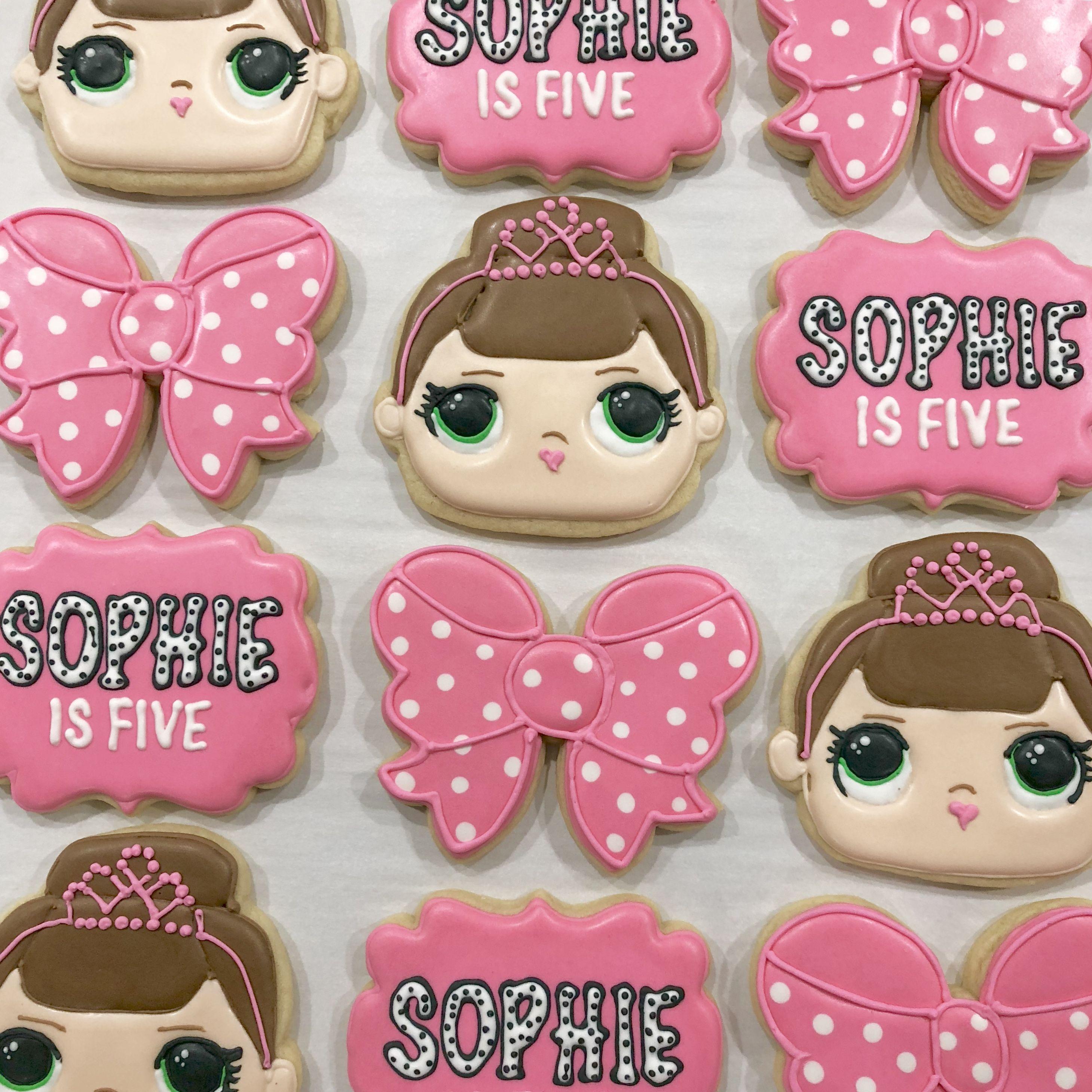 Lol Doll Themed Decorated Sugar Cookies Honeybeebakeshoppe Waco Texas Doll Cookies Cute Cookies Birthday Cookies