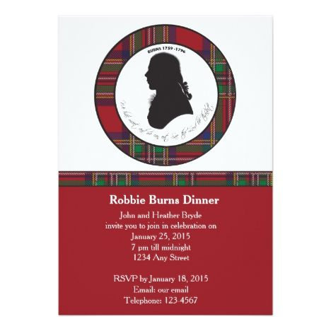 Robbie burns silhouette invitation pinterest burns robbie burns silhouette invitation burnsnight rabbieburns cards or postage stopboris Images
