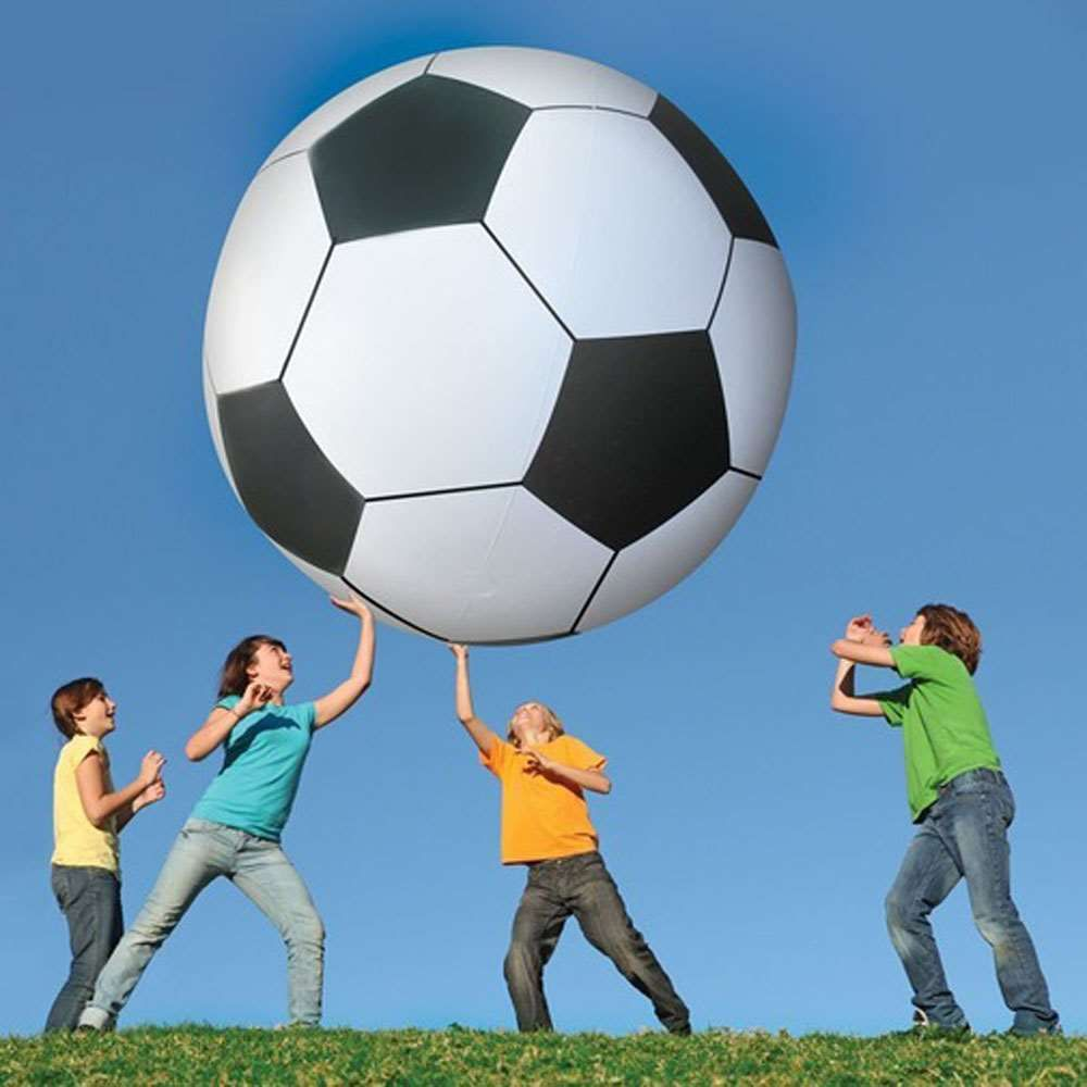 Inflatable Football Toys Ball Giant 1.3M Beach Ball Outdoor Fun Sports Toys  Inflated Plastic Ball
