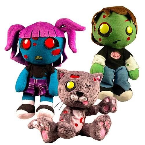 Creepy Cuddlers Series Zombies Plush Set