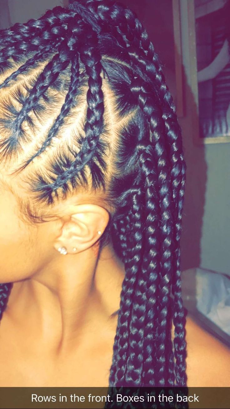 Diy braided mohawk plats braids plait braids feeding braids
