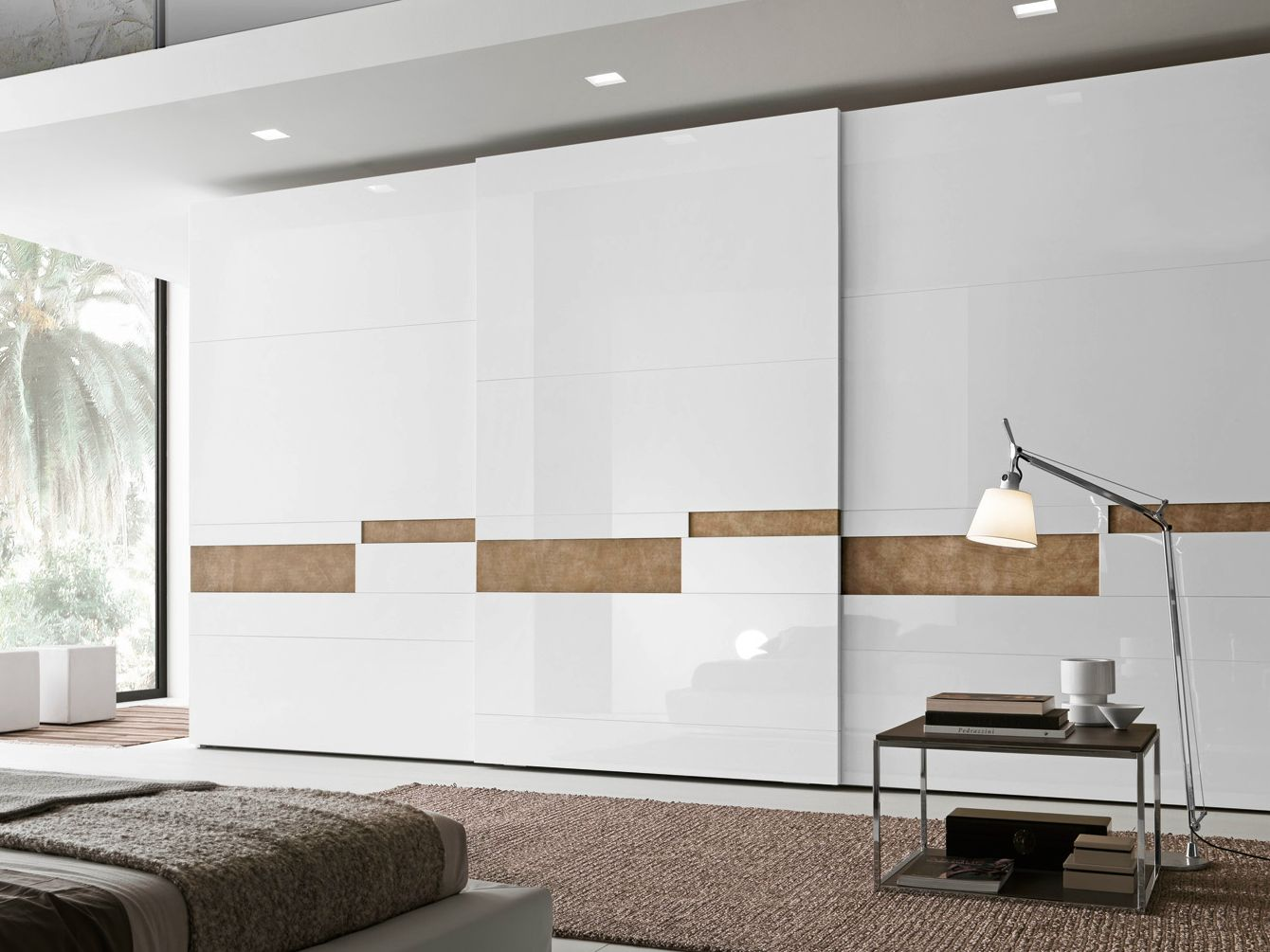 Sectional lacquered wardrobe with sliding doors SPLIT by Presotto ...
