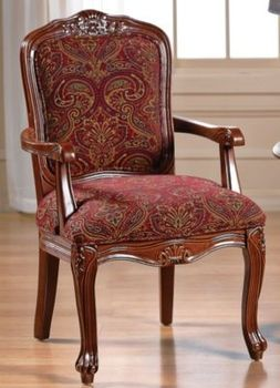 Burgundy Paisley Carved Chair In Spring Big Book Pt 2 From