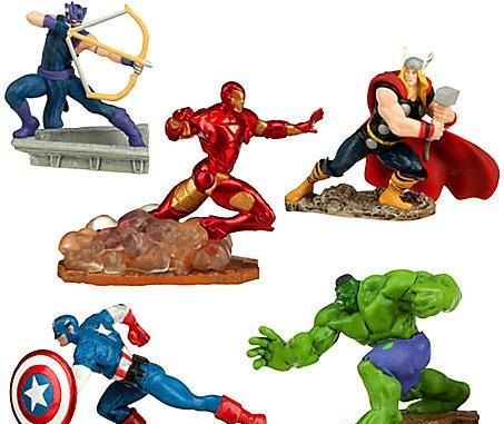 Awesome Set Of 5 Cake Toppers Marvel Avengers Birthday By Cakesnotincluded Funny Birthday Cards Online Elaedamsfinfo