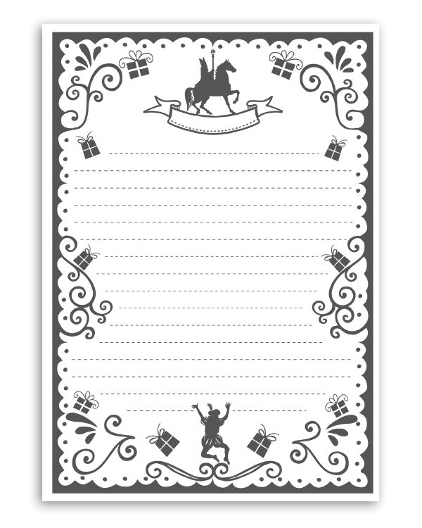 sint printable brief - gratis printables van | sf nicolae | saint
