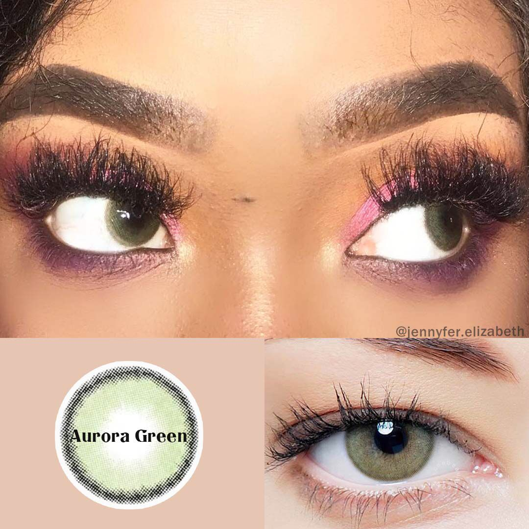Vcee Aurora Green Colored Contact Lenses Contact Lenses Colored Green Colored Contacts Green Contacts Lenses