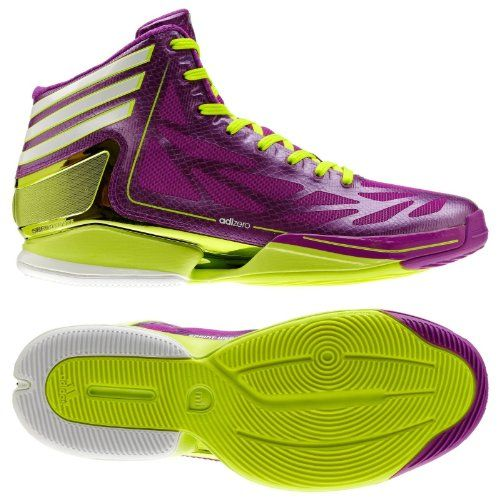 new arrival c4557 e71c7 Adidas Adizero Crazy Light 2.0 City Pack Lakers Derrick Rose  PurpleElectricityWhite Mens Basketball Shoes (Size 10)