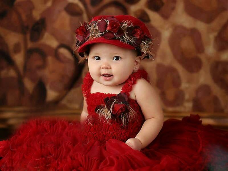 Cute Babies In Red Dress Deep Hd Wallpapers For You Hd Wallpapers