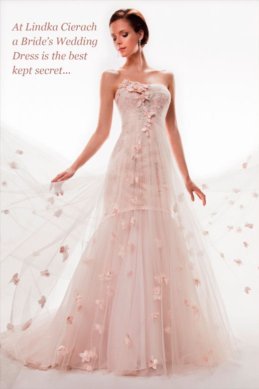 #pink wedding dress #wedding gown Floral design.  Very light.  @K D Eustaquio Lind Cierach