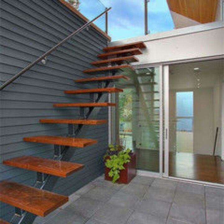 Best Like Floating Stair Exterior Stairs Floating Stairs 400 x 300