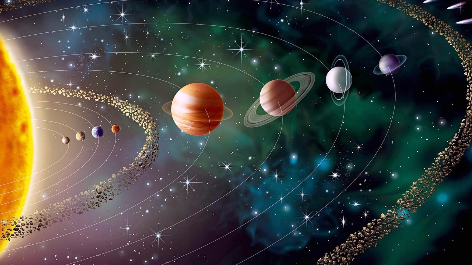 Solar System Digital Wallpaper Space Earth Sun Solar