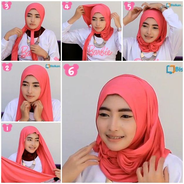 Tutorial Hijab Pashmina Spandek Simple/ Wide Shawl Spandek Hijab Tutorial Simple Style  Hijab