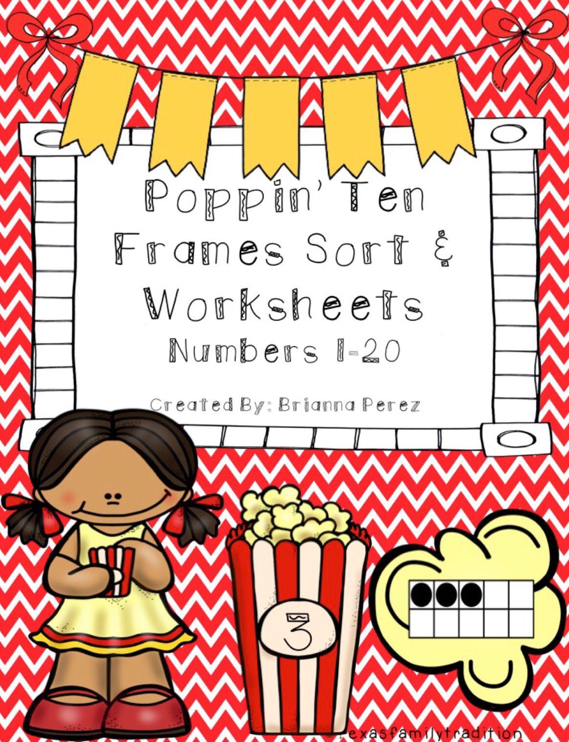 Poppin Ten Frames Sort Amp Activity Worksheets