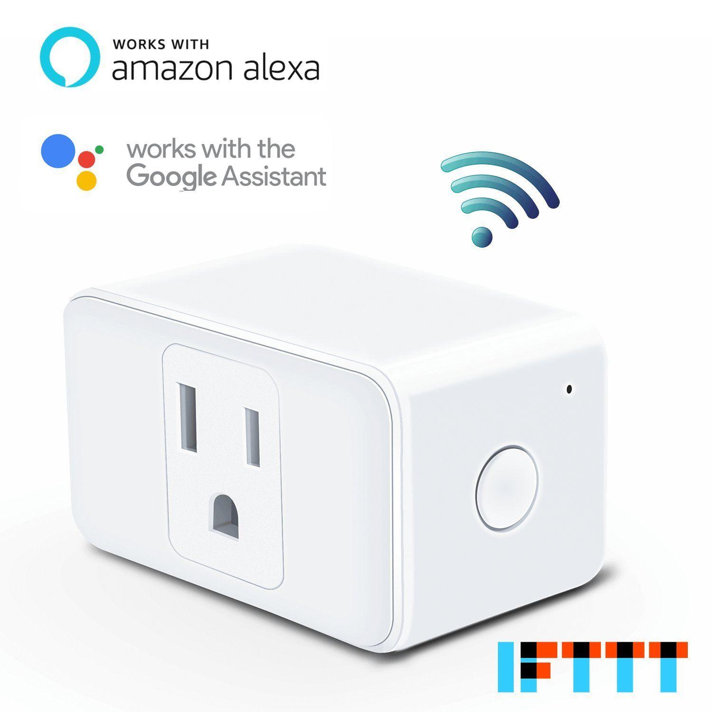 Meross Wifi Smart Plug Compatible with Alexa and Google Home