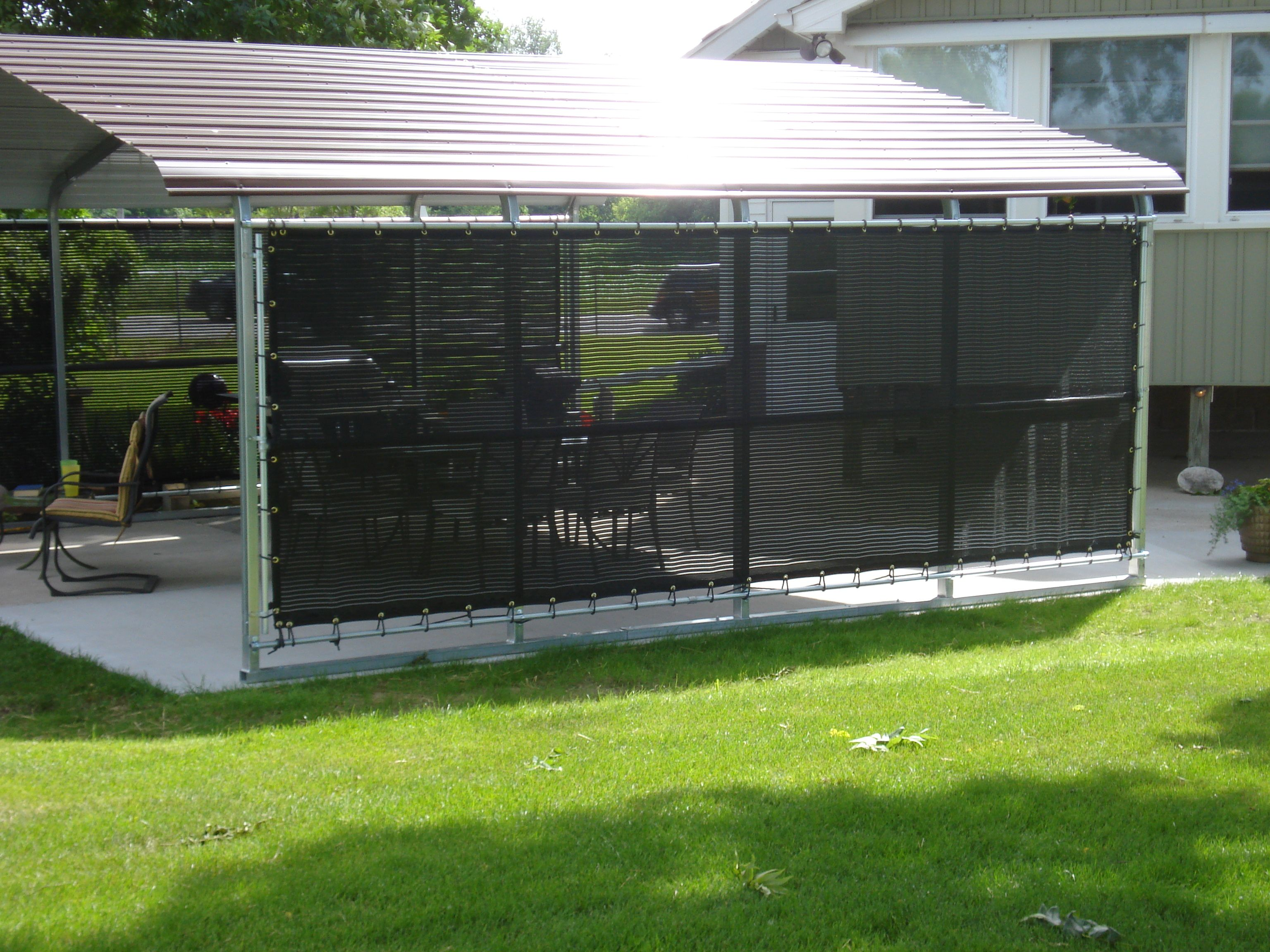 Add Shade To Your Backyard Patio With Strokemaster Windscreens. Block UV  Rays And Add Protection