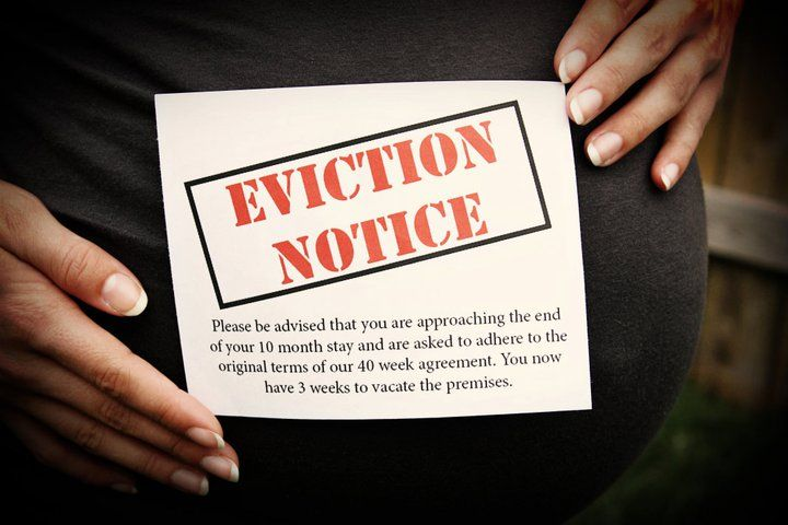 Baby Eviction Notice I Love This At  Weeks This Goes Up Missy