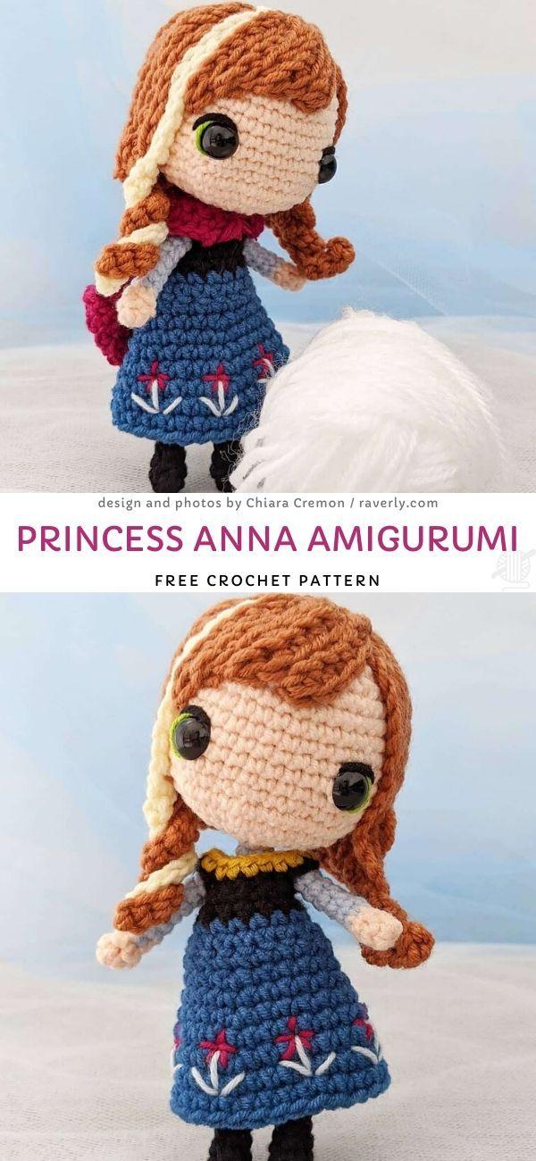 Princess Anna Amigurumi Free Crochet Pattern