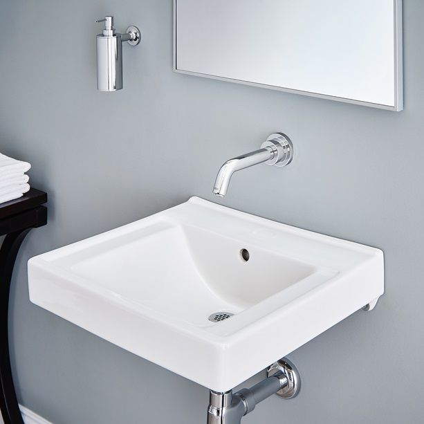 Commercial Bathroom Sinks Decorum WallHung Bathroom Sink With - Commercial wall mounted bathroom sinks