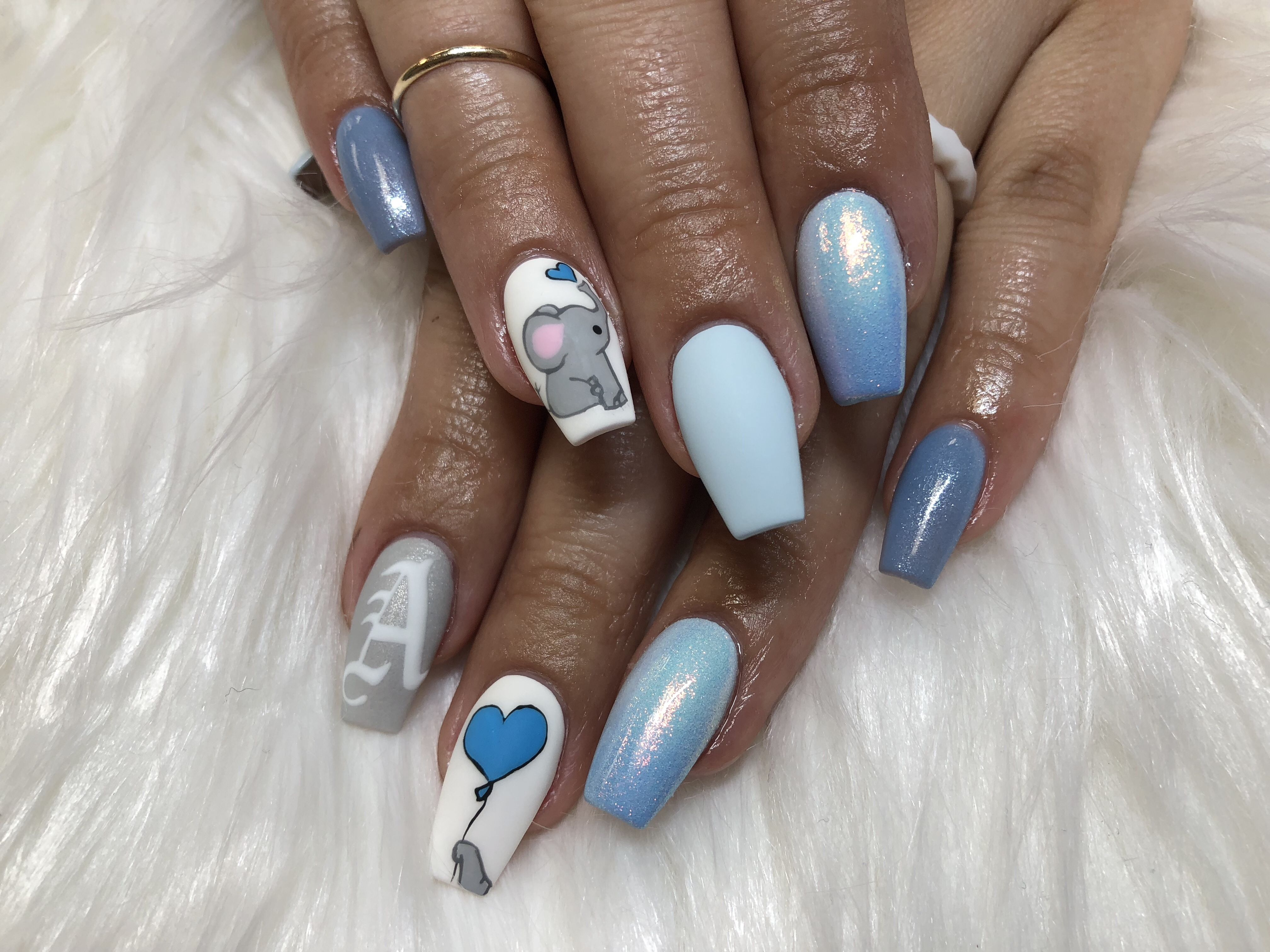 Love My Baby Shower Nails It S A Boy Nail Nail In 2019 Baby