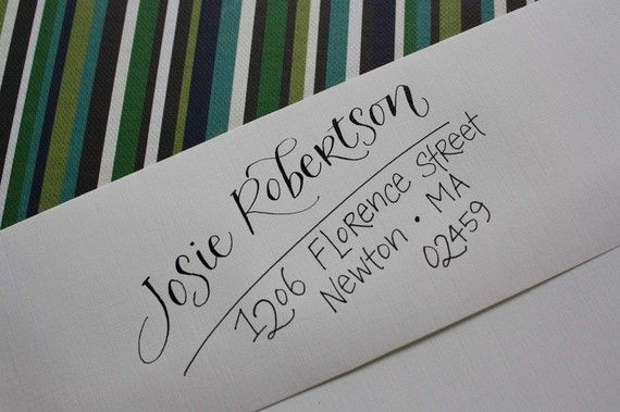 Calligraphy & Hand Addressed Envelopes