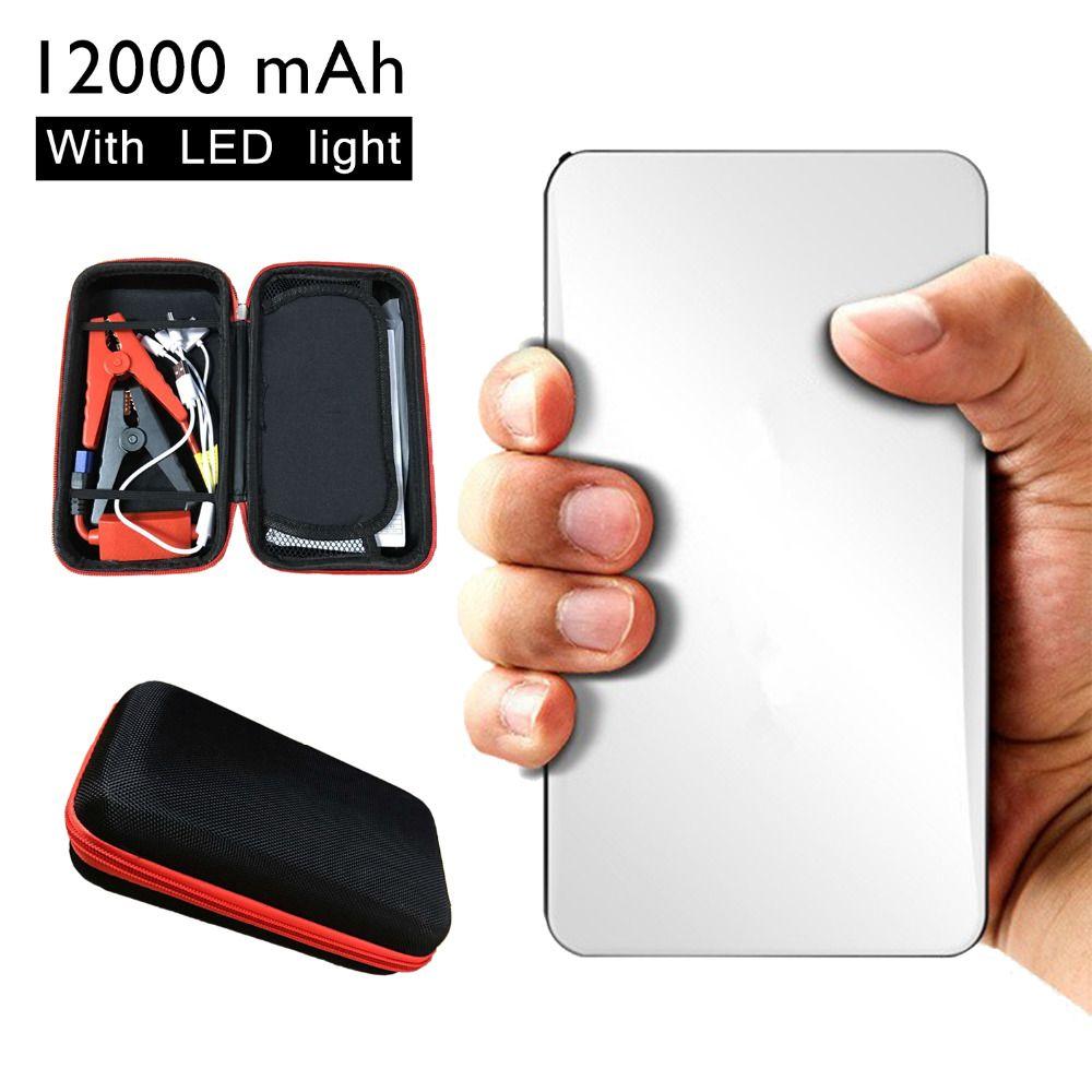 12000mAh Mini Car Jump Starter Portable White Emergency Charger ...