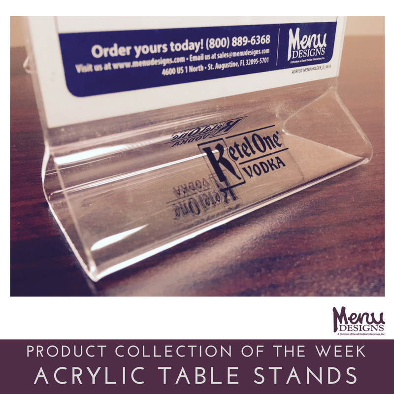 our production of the week acrylic table stands our popular
