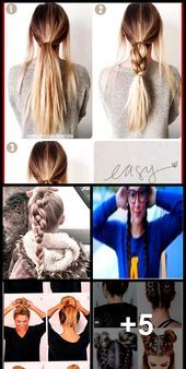24 Fast and easy school hairstyles for teens, #easy # for # hairstylesforchurchchildren …. - All For Hairstyles