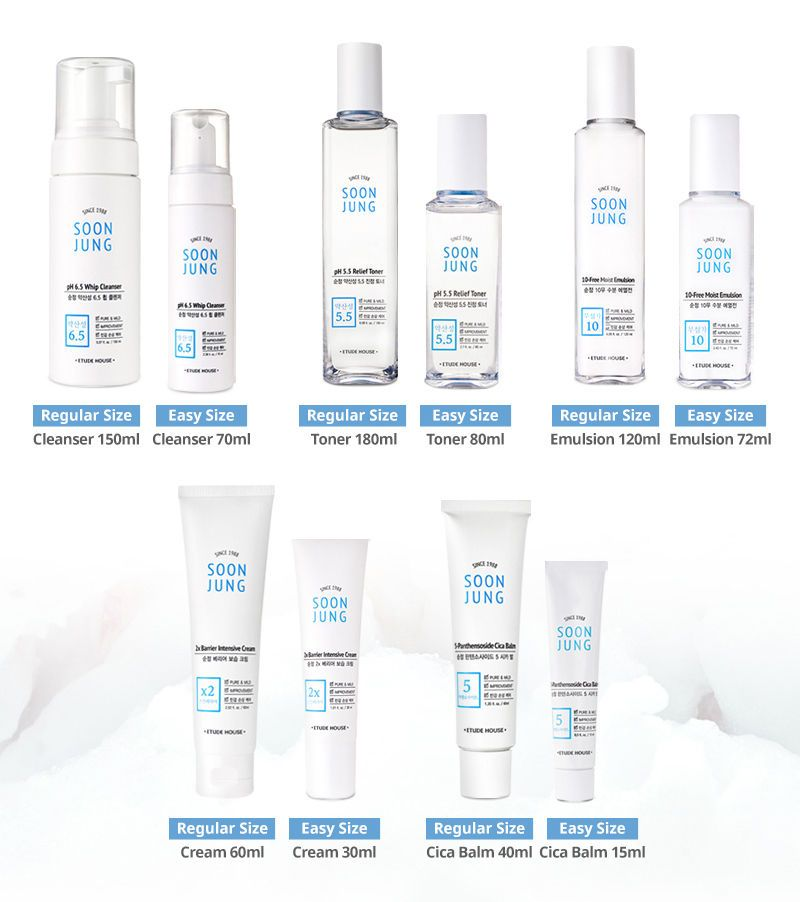 Etude House Soon Jung Skin Care Line Korea Genuine Ebay