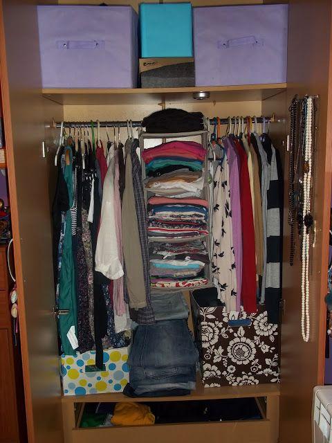 Cosas que me llenan organizar un armario peque o y con for Como organizar espacios pequenos