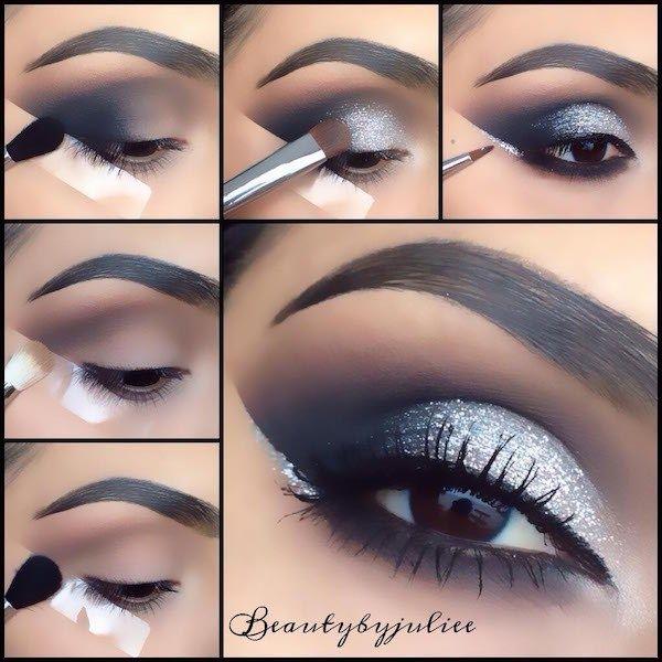 Studio 15 Smokey Eye Makeup Silver